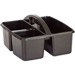 Black Plastic Storage Caddy, TCR20902