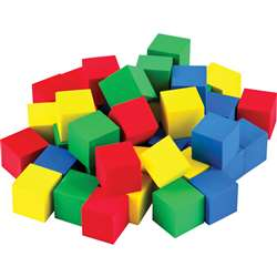"Multicolor 3/4"" Foam Cubes 40 Ct Stem Basics, TCR20938"