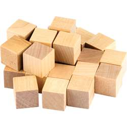 Stem Basics Wooden Cubes 25 Ct, TCR20941