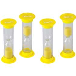 3 Minute Sand Timers Mini, TCR20946