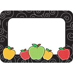 Dotty Apples Name Tag Labels, TCR2143
