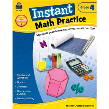 Instant Math Practice Gr 4 By Teacher Created Resources