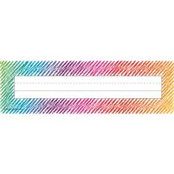 Colorful Scribble Name Plates, TCR2690