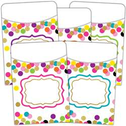 Confetti Library Pockets, TCR2736
