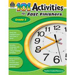 Gr 3 101 Activities For Fast Finishers By Teacher Created Resources