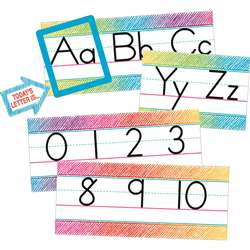 Colorful Scribble Alphabet Line Bulletin Board Set, TCR3052