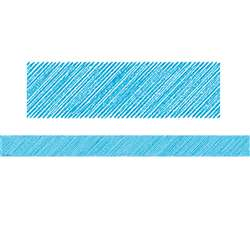 Aqua Scribble Straight Border Trim, TCR3414