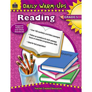 Daily Warm-Ups Reading Gr 5 By Teacher Created Resources