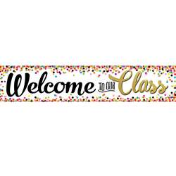 Confetti Welcome Banner, TCR3606