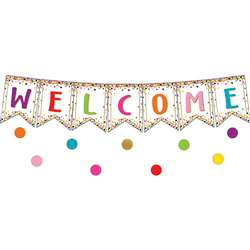 Confetti Pennants Welcome Bulletin Board Set, TCR3608