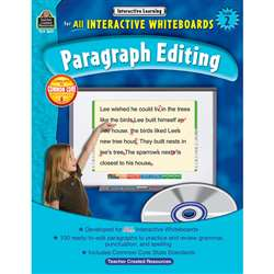 Interactive Learning Gr 2 Paragraph Editing W/Cd By Teacher Created Resources