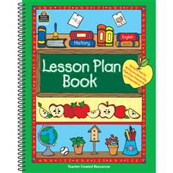 Lesson Plan Book Green Border By Teacher Created Resources