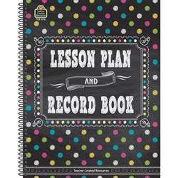 Chalkboard Brights Lesson Plan And Record Book, TCR3716
