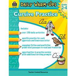 Daily Warm Ups Cursive Practice, TCR3810