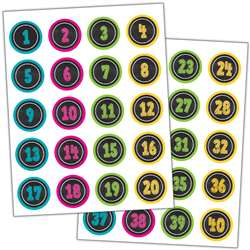 Chalkboard Brights Numbers Stickers, TCR3841