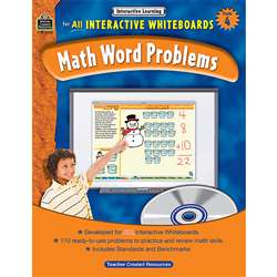 Interactive Learning Gr 4 Math Word Problems By Teacher Created Resources