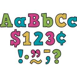 "3"" Chalkboard Brights Letters, TCR3881"