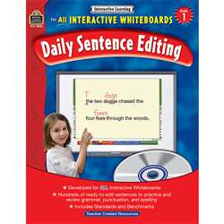 Interactive Learning Gr 1 Daily Sentence Editing Bk W/Cd By Teacher Created Resources