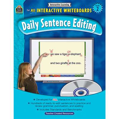 Interactive Learning Gr 2 Daily Sentence Editing Bk W/Cd By Teacher Created Resources