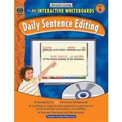 Interactive Learning Gr 4 Daily Sentence Editing Bk W/Cd By Teacher Created Resources