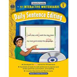 Interactive Learning Gr 5 Daily Sentence Editing Bk W/Cd By Teacher Created Resources