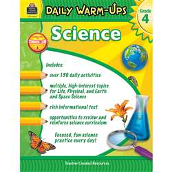 Daily Warm Ups Science Gr 4, TCR3969