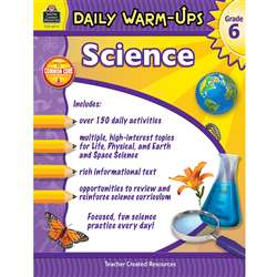 Daily Warm Ups Science Gr 6, TCR3973