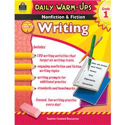 Daily Warm Ups Gr 1 Nonfiction & Fiction Writing Book By Teacher Created Resources