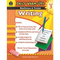 Daily Warm Ups Gr 3 Nonfiction & Fiction Writing Book By Teacher Created Resources