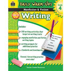 Daily Warm Ups Gr 4 Nonfiction & Fiction Writing Book By Teacher Created Resources