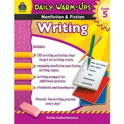 Daily Warm Ups Gr 5 Nonfiction & Fiction Writing Book By Teacher Created Resources