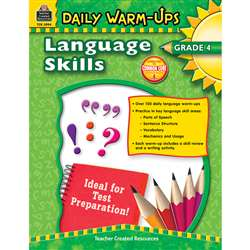Daily Warm Ups Language Skills Gr 4 By Teacher Created Resources