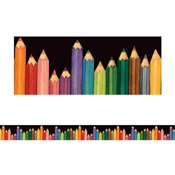 Sw Colorful Pencils Straight Border Trim By Teacher Created Resources