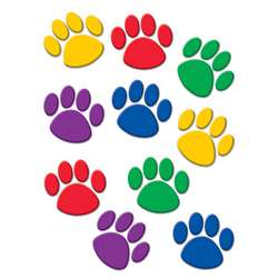 Accents Colorful Paw Prints By Teacher Created Resources