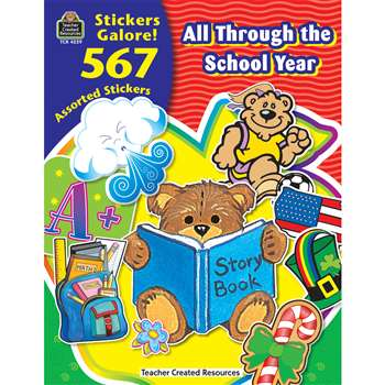 All Through The School Year Sticker Book By Teacher Created Resources