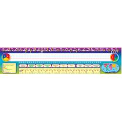 Cursive Writing 36Pk Super Jumbo Name Plates 4 X 18 By Teacher Created Resources