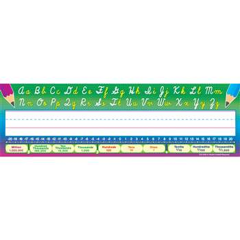Cursive Writing 36Pk Flat Name Plates 3-1/2 X 11-1/2 By Teacher Created Resources