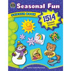 Seasonal Fun Sticker Book By Teacher Created Resources