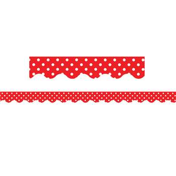 Red Mini Polka Dots Border Trim By Teacher Created Resources