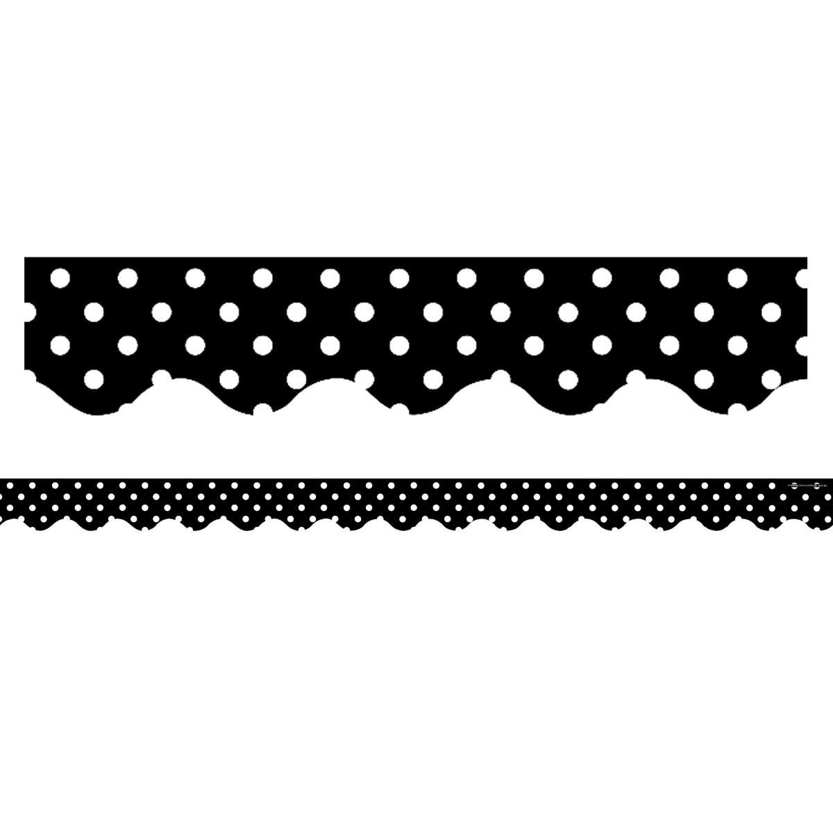 black mini polka dots border trim by teacher created resources