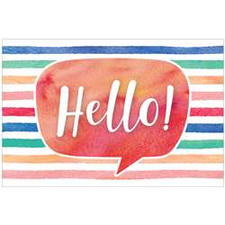 Watercolor Hello Postcards, TCR4764