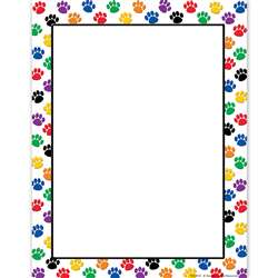 Colorful Paw Prints Computer Paper By Teacher Created Resources