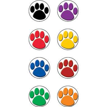 Colorful Paw Prints Mini Stickers By Teacher Created Resources