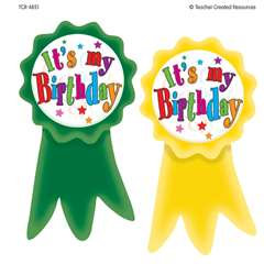 Birthday Ribbons Wear Em Badges By Teacher Created Resources