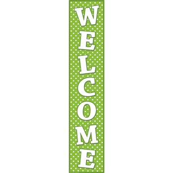 Lime Polka Dots Welcome Banner By Teacher Created Resources