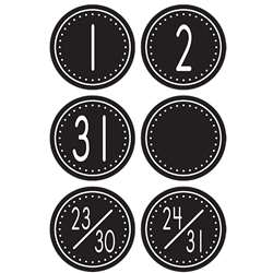 Black/White Crazy Circles Calendar Days Mini Pack Circle Shape By Teacher Created Resources