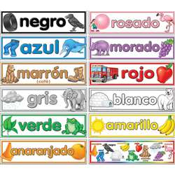 Colors Spanish Headliners By Teacher Created Resources