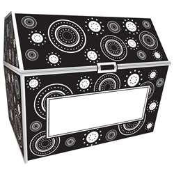 Black & White Crazy Circles Chest By Teacher Created Resources