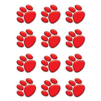 Red Paw Prints Mini Accents By Teacher Created Resources