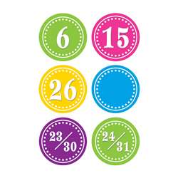 Bright Circles Calendar Days By Teacher Created Resources